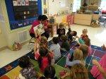 Arionda reading to K Fine Fine School