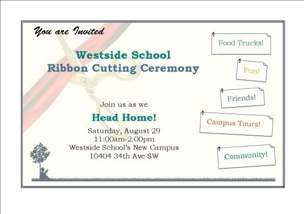 Ribbon Cutting Invite